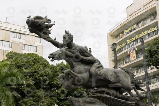 Monumento Bolivar Desnudo,Plaza de Bolivar,Pereira,Risaralda / Nude Bolivar Monument,Bolivar Square,
