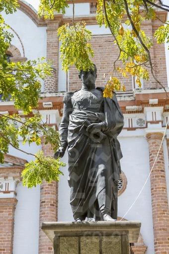 Estatua de Simón Bolivar,Parque principal de Ciudad Bolivar,Antioquia / Statue of Simon Bolivar,Main Park Ciudad Bolivar,Antioquia