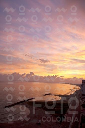 Amanecer Playas de Marbella,Cartagena,Bolivar / Sunrise in Marbella Beach, Cartagena,Bolivar