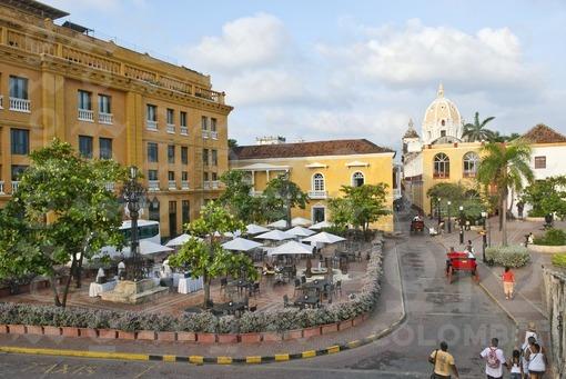 Plaza Santa Teresa,Ciudad Vieja,Cartagena,Bolivar / Santa Teresa Square,Old City,Cartagena,Bolivar