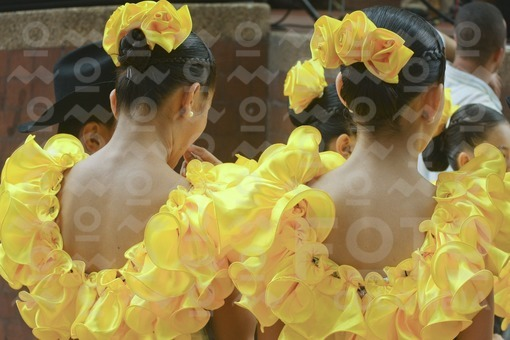 Niñas con traje típico, Los Llanos Orientales / Girls with costume,The Eastern Plains