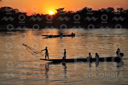Atardecer en el Rio Arauca / Sunset on the River Arauca