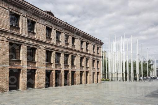Edificio Vásquez y parque de las Luces,Medellín,Antioquia / Building Vasquez and Park of Lights,Medellín,Antioquia