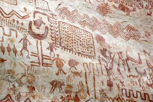 Pinturas Rupestres,Parque Nacional Natural Serranía de Chiribiquete / Rock paintings, Serranía de Chiribiquete Natural National Park
