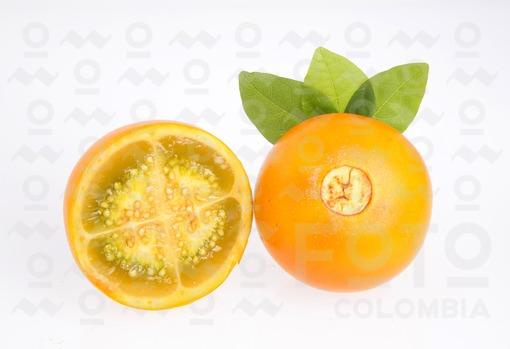 Lulo fruta tropical - Solanum quitoense