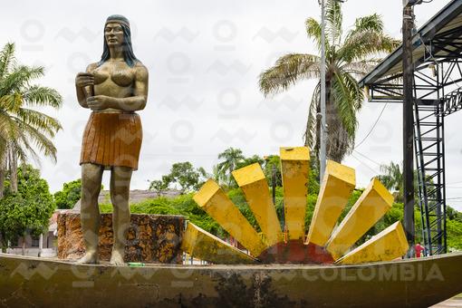 Monumento a la Princesa Inírida,Guainía / Monument to the Princess Inírida,Guainia